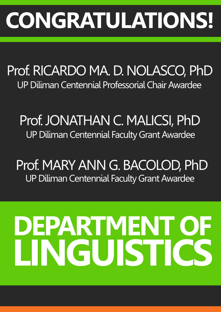 UP Diliman Grant Awardees