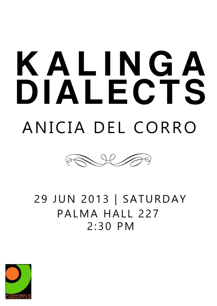 Kalinga Dialects