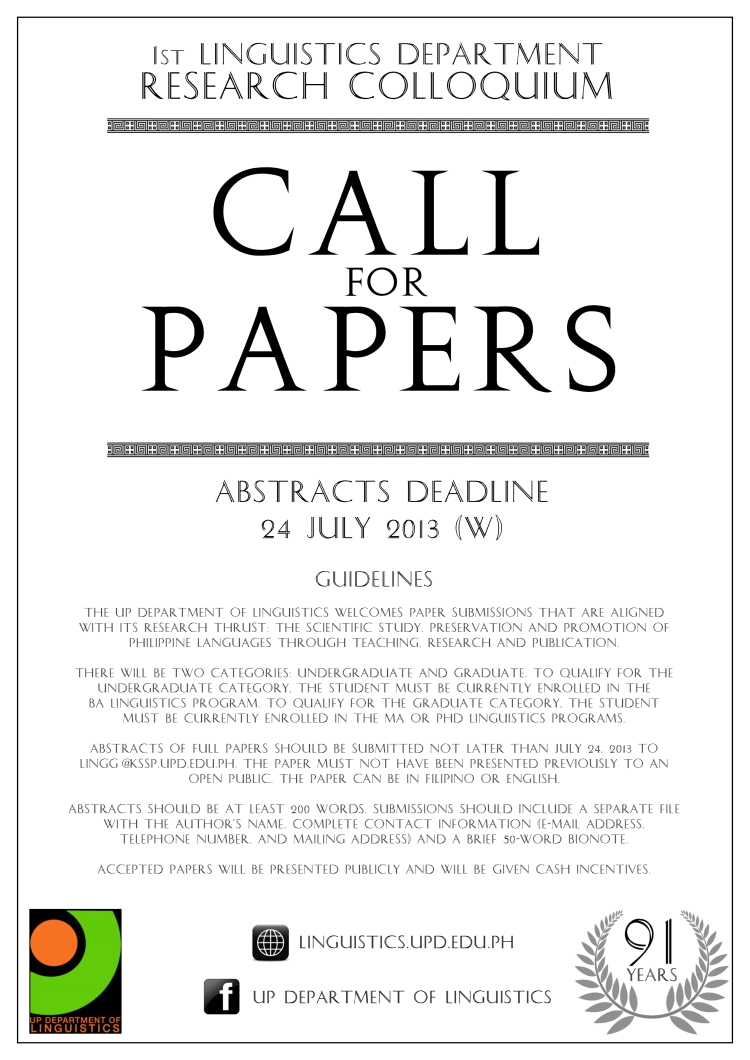 calling for research papers Homecalls call for paper - march 2018 edition ijca solicits original research papers for the march 2018 edition last date of manuscript submission is february 20, 2018 read more researchers submitting their papers for publication should oblige by reviewing at-least one technical paper from their domain.