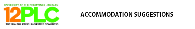 12PLC Accommodation Suggestions