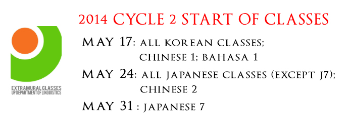 2014 Cycle 2 Start of Classes