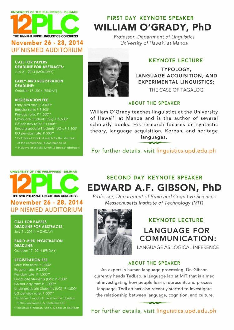 12PLC Keynote Speakers