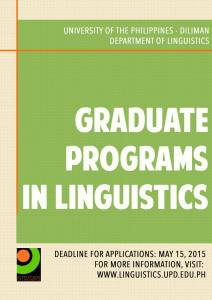 Graduate Program Application