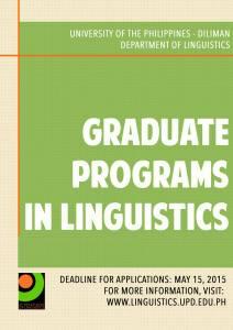Graduate Program Application