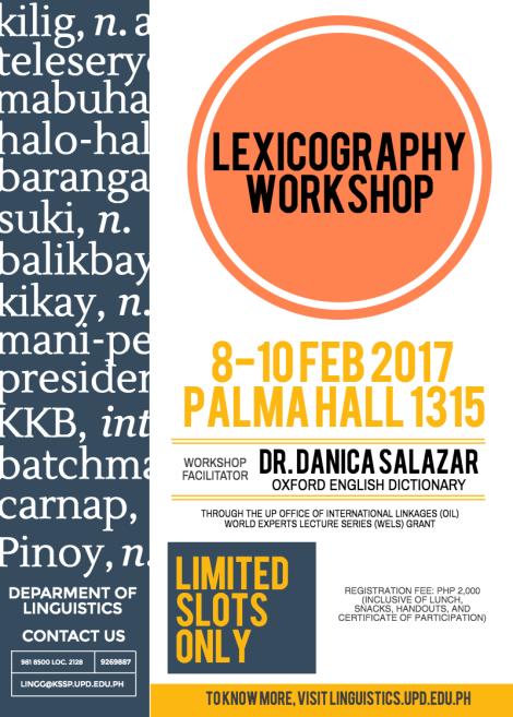 [WORKSHOP] Lexicography Workshop