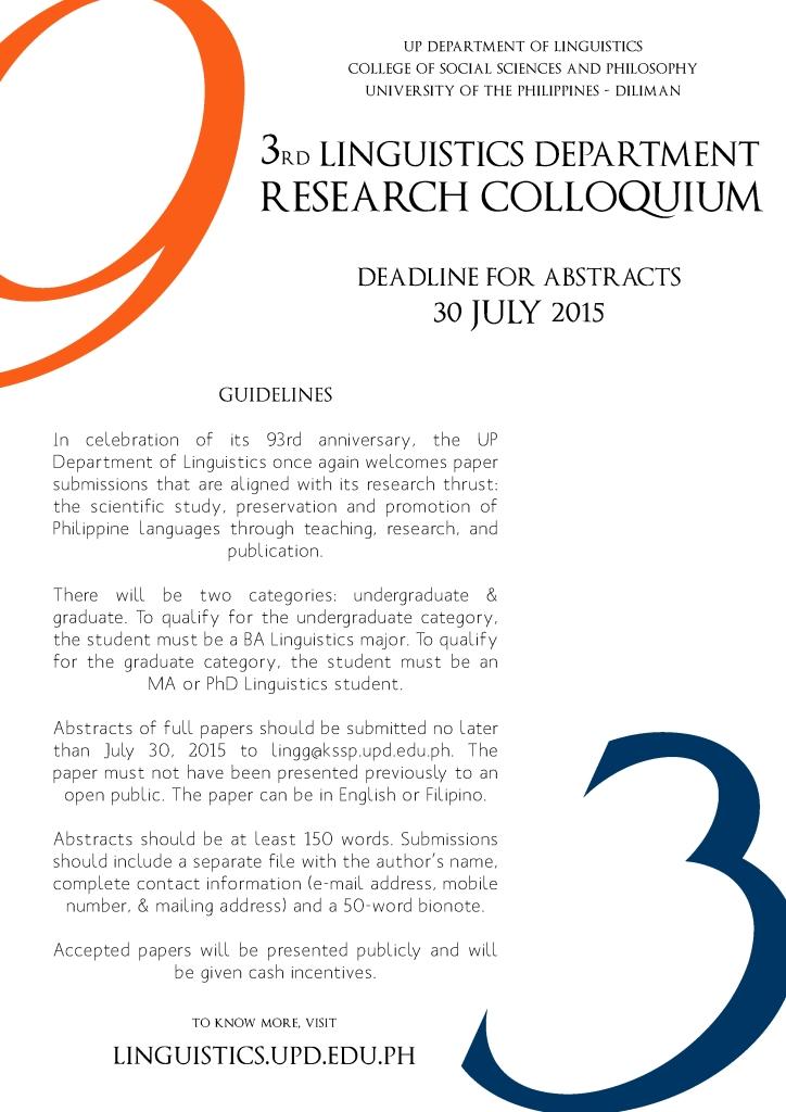 3rd Research Colloquium