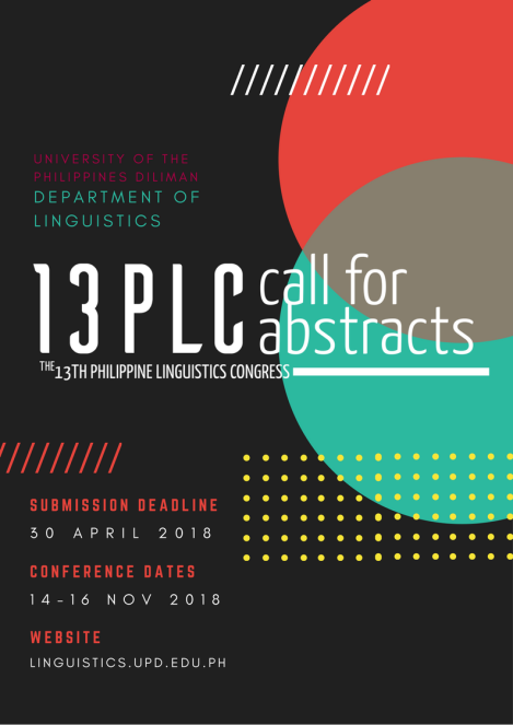 13th Philippine Linguistics Congress(13PLC)