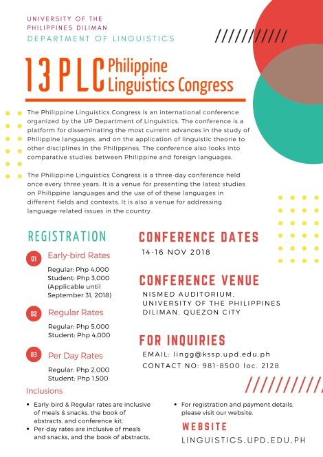 13th Philippine Linguistics Congress (13PLC)